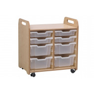 Playscapes Tray Storage Unit With 4 Shallow And 4 Deep Trays