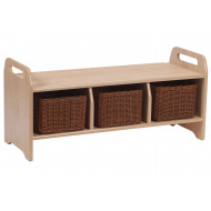 Playscapes Large Welcome Storage Bench With 3 Baskets