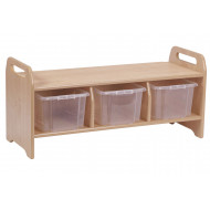 Playscapes Large Welcome Storage Bench With 3 Clear Tubs