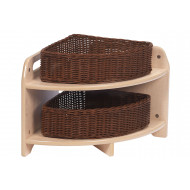 Playscapes low level 90 degree corner unit with 2 baskets