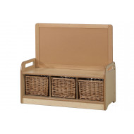 Playscapes Low Display Storage Unit With 3 Baskets