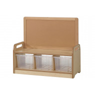 Playscapes Low Display Storage Unit With 3 Clear Tubs
