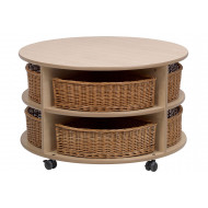 Playscapes Low Level Circular Storage Unit With Baskets