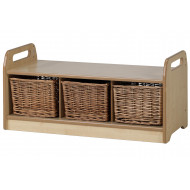 Playscapes Low Level Storage Bench With 3 Baskets