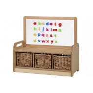 Playscapes Low Magnetic Storage Unit With 3 Baskets