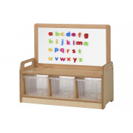 Playscapes Low Magnetic Storage Unit With 3 Clear Tubs