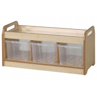 Playscapes Low Mirror Play Unit With 3 Clear Tubs