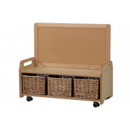 Playscapes Low Mobile Display Storage Unit With 3 Baskets