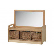 Playscapes Mirror Storage Unit With 3 Baskets