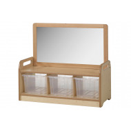 Playscapes Mirror Storage Unit With 3 Clear Tubs