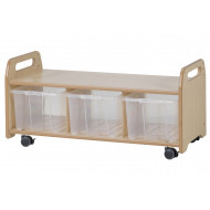 Playscapes Mobile Low Level Unit With 3 Clear Tubs