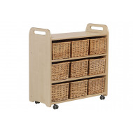 Playscapes Mobile Shelf With 9 Baskets