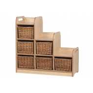 Playscapes Stepped Cube Storage Unit With Baskets
