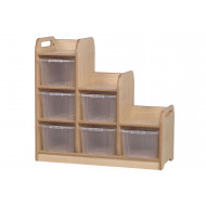 Playscapes Stepped Cube Storage Unit With Clear Tubs