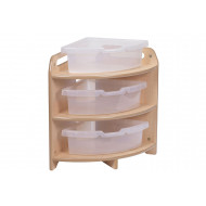 Playscapes Tall 90 Degree Corner Unit With 3 Clear Tubs