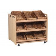 Playscapes Tilt Tote Double Storage Trolley With 18 Baskets