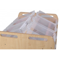 Playscapes Tilt Tote Double Storage Trolley With 18 Clear Tubs