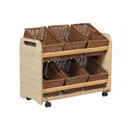 Playscapes Tilt Tote Storage Trolley With 6 Baskets