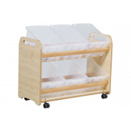 Playscapes Tilt Tote Storage Trolley With 6 Clear Tubs