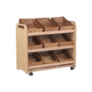 Playscapes Tilt Tote Storage Trolley With 9 Baskets