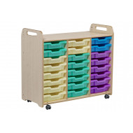 Playscapes Tray Storage Unit With 24 Shallow Trays