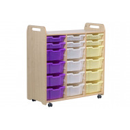 Playscapes Tray Storage Unit With 6 Shallow And 12 Deep Trays