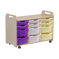 Playscapes Tray Storage Unit With 6 Shallow And 6 Deep Trays