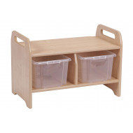 Playscapes Welcome Storage Bench With 2 Clear Tubs
