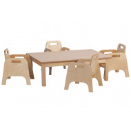 Small Rectangular Table And Chairs Set