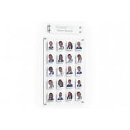 Crystal Clear Wall Staff/Class Board With 20 Pockets