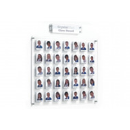 Crystal Clear Wall Staff/Class Board With 35 Pockets