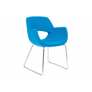 Isabelia Lounge Chair With Sled Frame