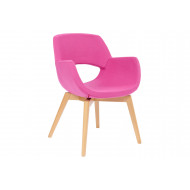 Isabelia Lounge Chair With Wooden Frame