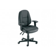 Stanley Leather Faced Operator Chair