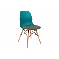 Lilly 4 Leg Bistro Chair With Upholstered Seat (Wooden Frame)