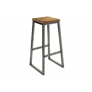 Next-Day Speewa High Stool With Wooden Seat