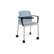 Yarra 4 Leg Perforated Back Mobile Chair With Writing Tablet