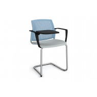 Yarra 4 Leg Perforated Back Visitor Chair With Writing Tablet