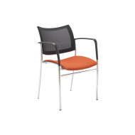 Pack of 2 Vesle Mesh Back Conference Chairs With Arms