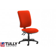 Tully Extra High Square Back Asynchro Operator Chair (No Arms)