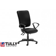 Tully Extra High Square Back Asynchro Operator Chair (Fixed Arms)