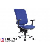Tully 24HR Square Back Asynchro 4 Lever Operator Chair