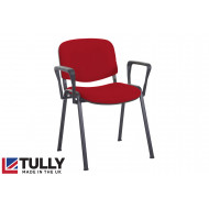Tully Black Frame Conference Chair With Arms