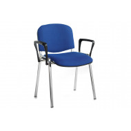 Next-Day Pack Of 4 Chrome Frame Conference Chairs With Arms
