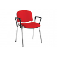 Pack Of 4 Chrome Frame Conference Chairs With Arms
