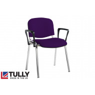 Tully Chrome Frame Conference Chair With Arms
