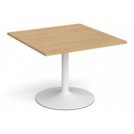 All Oak Trumpet Base Square Extension Table
