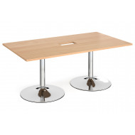 Babstock Power Ready Rectangular Boardroom Table