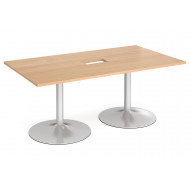 Wolfe Power Ready Rectangular Boardroom Table