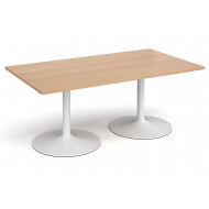 All Beech Trumpet Base Rectangular Boardroom Table